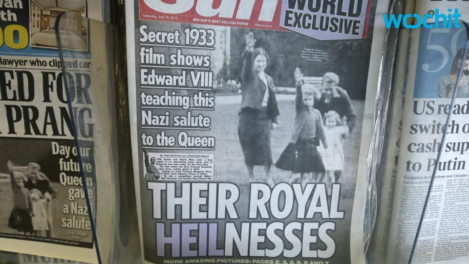Queen's Nazi salute as child leaves Britain's royals red-faced