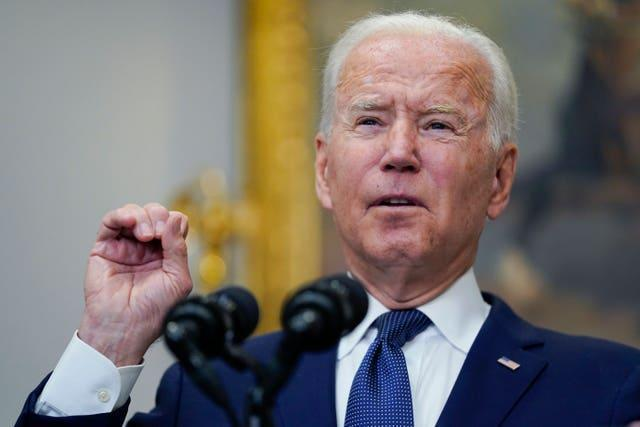 President Joe Biden gave an update on the Afghanistan situation on Sunday