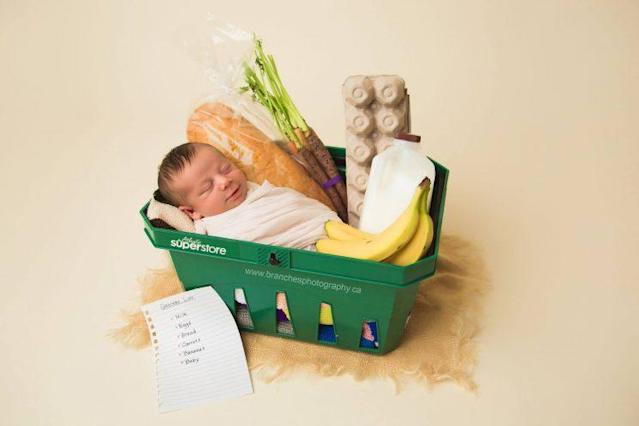 Baby Ezra was born in a grocery store. (Photo: Jen Matchett/Branches Photography)