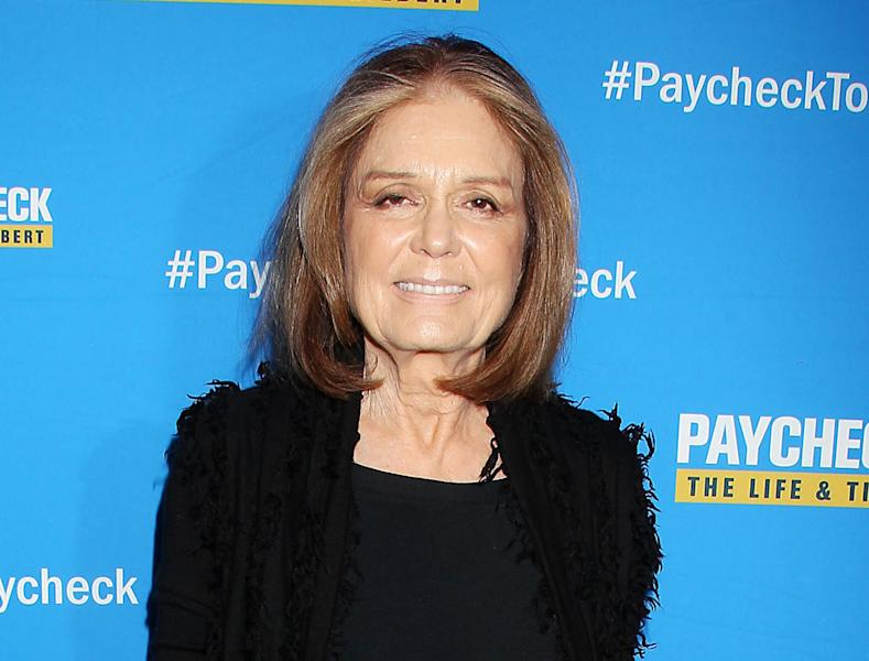"""FILE - This March 13, 2014 file photo released by Starpix shows Gloria Steinem at the premiere of the documentary """"Paycheck to Paycheck: The Life & Times of Katrina Gilbert,"""" in New York. Steinem, who turned 80 last week, will be receiving the Lifetime Leadership Award at the annual DVF awards Friday evening in a ceremony at the United Nations. (AP Photo/Starpix, Dave Allocca, File)"""