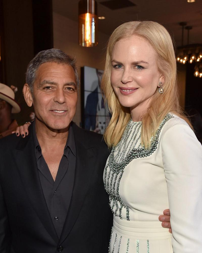 George looks VERY tanned compared to Nicole Kidman. Source: Getty