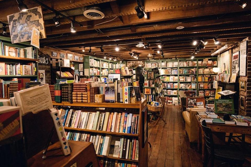 """<p><strong>Let's start with scale. How big is this shop?</strong> The Book Lady is one of those jumbled, quaint, old bookstores that you see sometimes in movies but not as often in real life. A couple steps down from the Liberty Street sidewalk, this <a href=""""https://www.cntraveler.com/gallery/best-shops-in-savannah?mbid=synd_yahoo_rss"""" rel=""""nofollow noopener"""" target=""""_blank"""" data-ylk=""""slk:Savannah shop"""" class=""""link rapid-noclick-resp"""">Savannah shop</a> sells a mix of new and used titles and rare editions, with a fabulous selection of books of local and regional interest.</p> <p><strong>What can we find here, or what should we look for?</strong> You'll find big-name books (<em>Midnight in the Garden of Good and Evil</em> and various other works in the spooky-<a href=""""https://www.cntraveler.com/destinations/savannah?mbid=synd_yahoo_rss"""" rel=""""nofollow noopener"""" target=""""_blank"""" data-ylk=""""slk:Savannah"""" class=""""link rapid-noclick-resp"""">Savannah</a> genre) as well as terrific books on Southern history, cooking, and culture. Anyone with a passing interest in the South should check out the section of titles on Georgia and the South, which is to the left after you enter the store.</p> <p><strong>If money's no object, what goes in the cart?</strong> Don't miss the rare-books room, where you might come across a first edition of <em>The Great Gatsby</em>, or a 17th-century memoir of the Revolutionary War, or the section of art and architecture books.</p> <p><strong>And … what if we're on a budget?</strong> The back room is where you'll find used paperback fiction, organized alphabetically. This is nothing more or less than a highly idiosyncratic selection of fiction by authors of all fame levels. You should easily be able to find something for just a few bucks.</p> <p><strong>Who else shops here?</strong> Because of its downtown location and high visibility, the Book Lady tends to attract tourists making their rounds of Savannah—generally in a trickle, not a flood. But, as one o"""