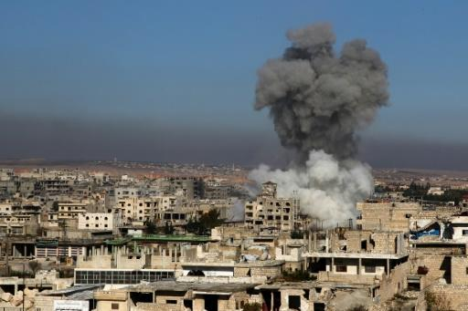 The town of Maaret al-Numan has been hit by intense regime and Russian bombardment in recent weeks