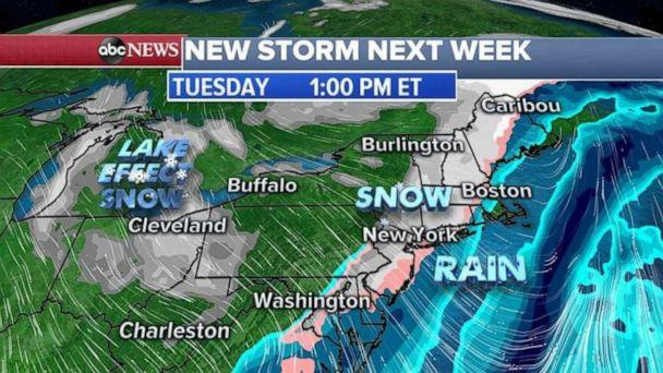 PHOTO: Heavy lake effect snow is expected around the Great Lakes next week too. (ABC News)