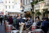 FILE PHOTO: COVID-19 restrictions ease, in London