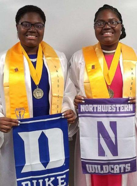 PHOTO: Tia and Tyra Smith accepted the highest academic title at Lindblom Math and Science Academy in Illinois. The 18-year-old sisters graduated with 4.0 GPAs. (Courtesy Lemi-Ola Erinkitola)