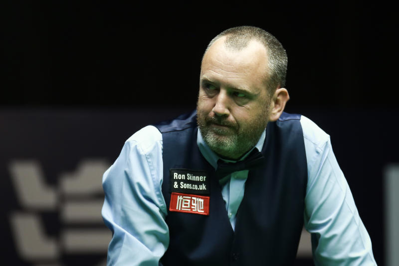 GUANGZHOU, CHINA - SEPTEMBER 28: Mark Williams of Wales reacts in the semi-final match against Hossein Vafaei of Iran on Day six of Evergrande 2019 World Snooker China Championship at Tianhe Sports Center on September 28, 2019 in Guangzhou, Guangdong Province of China. (Photo by Tai Chengzhe/VCG via Getty Images)