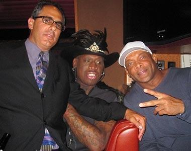 Rodman invited Yahoo! Sports columnist Michael Silver to celebrate his Naismith Memorial Basketball Hall of Fame induction with him – and a 50-strong entourage that included, among others, good friend Floyd Raglin