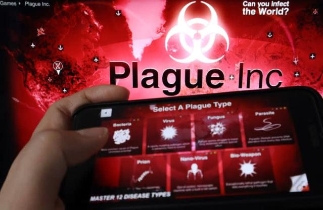 """Illustration picture of strategy simulation app """"Plague Inc.\"""
