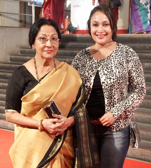 Mala Sinha with her daughter Pratibha Sinha