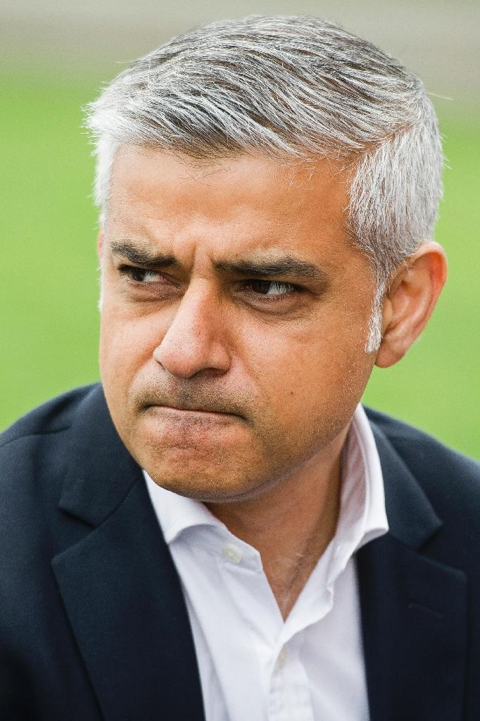 "London mayor Sadiq Khan spokesman issued a pointed statement saying that the mayor had ""more important things to do than respond to Donald Trump's ill-informed tweet"" (AFP Photo/LEON NEAL)"