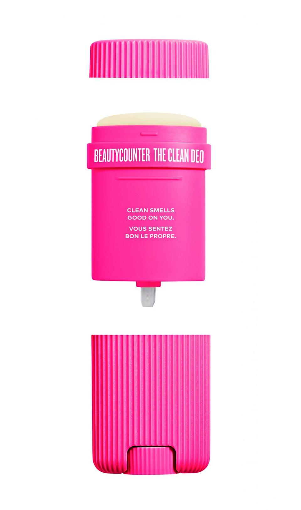 "<p>Swap products in single-use packaging for ones that come in reusable containers. Companies are now making refillable versions of everything from mouthwash to this cruelty-free deodorant.</p> <p><strong>Buy It!</strong> Beautycounter the Clean Deo, $28; <a href=""https://www.beautycounter.com/product/clean-deo/variant-1760"" rel=""nofollow noopener"" target=""_blank"" data-ylk=""slk:beautycounter.com"" class=""link rapid-noclick-resp"">beautycounter.com</a></p>"