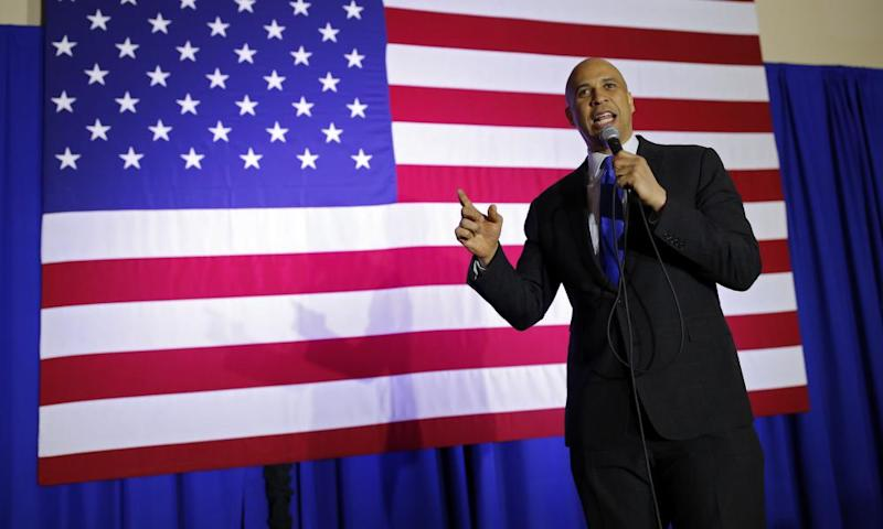 Booker speaks in North Las Vegas.