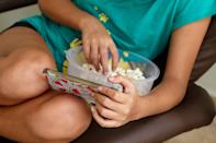 """<p>Eating while watching TV or scrolling through social media can lead to overeating. So try to eat <a href=""""https://www.popsugar.com/fitness/Mindful-Eating-Weight-Loss-45791630"""" class=""""link rapid-noclick-resp"""" rel=""""nofollow noopener"""" target=""""_blank"""" data-ylk=""""slk:mindfully"""">mindfully</a>, without distractions.</p>"""