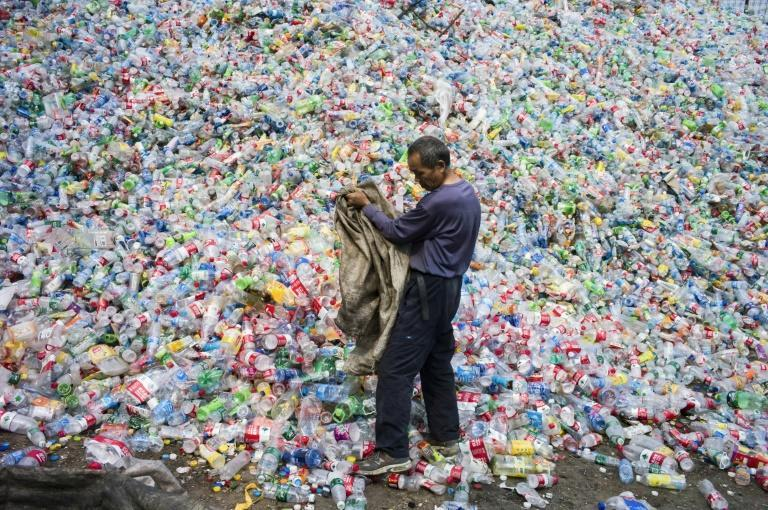 Before it clamped down on plastic waste imports, China processed almost half of the world's plastic waste (picture is from the outskirts of Beijing in 2015)