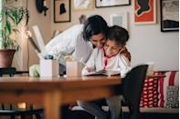 """<p>By assisting your children in writing friends, family, and whoever else's day they'd like to brighten, you're helping them stay connected to the outside world and build relationships while exercising their social skills. """"While connecting on technology is great, you might also help them make artwork or write a <a href=""""https://www.redbookmag.com/life/mom-kids/news/a52341/toni-hammer-viral-daughter-letter/"""" rel=""""nofollow noopener"""" target=""""_blank"""" data-ylk=""""slk:letter"""" class=""""link rapid-noclick-resp"""">letter</a> to someone they are missing and thinking about,"""" says Dr. Trumbell.</p>"""