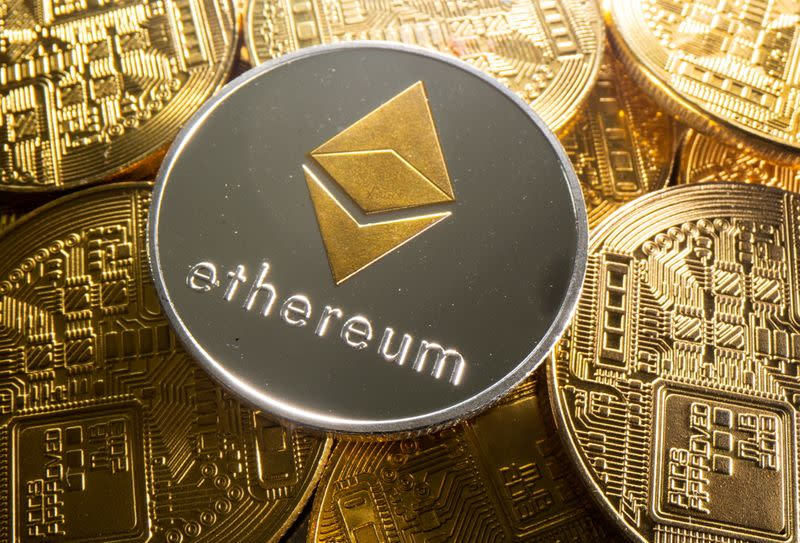 FILE PHOTO: Representation of cryptocurrency Ethereum is seen in this illustration