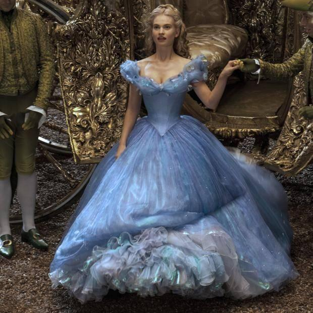Here Lily James plays Cinderella in the Disney remake. Photo: Disney