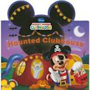 """<p>Hot diggity dog! Tots can join in on all the <a class=""""link rapid-noclick-resp"""" href=""""https://www.popsugar.com/Halloween"""" rel=""""nofollow noopener"""" target=""""_blank"""" data-ylk=""""slk:Halloween"""">Halloween</a> fun at the Mickey Mouse Clubhouse as the gang gets ready for a spooky bash with this kid-friendly board book, <span><strong>Haunted Clubhouse</strong></span> ($4).</p>"""