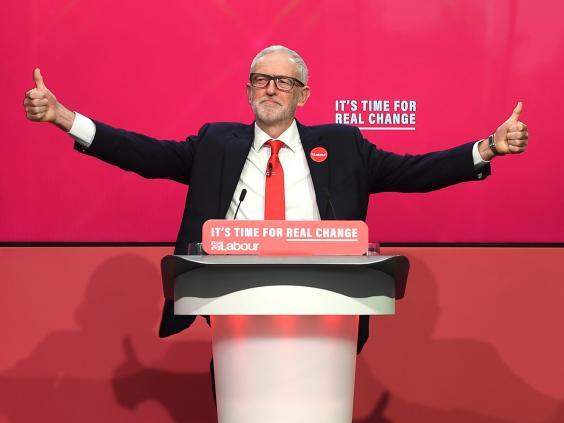 Jeremy Corbyn unveiled his party manifesto in Birmingham on Thursday (PA)