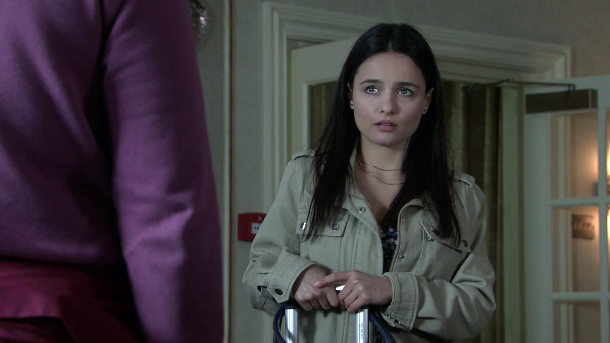 FROM ITV  STRICT EMBARGO - No Use Before Tuesday 7th September  2021  Coronation Street - Ep 1043031  Thursday 16th September 2021  Having tracked her to a hotel, he implores her to reconsider. When Alina Pop [RUXANDRA POROJNICU] makes out it's over between them, will Tyrone DOBBS [ALAN HALSALL] accept this?  Picture contact David.crook@itv.com   This photograph is (C) ITV Plc and can only be reproduced for editorial purposes directly in connection with the programme or event mentioned above, or ITV plc. Once made available by ITV plc Picture Desk, this photograph can be reproduced once only up until the transmission [TX] date and no reproduction fee will be charged. Any subsequent usage may incur a fee. This photograph must not be manipulated [excluding basic cropping] in a manner which alters the visual appearance of the person photographed deemed detrimental or inappropriate by ITV plc Picture Desk. This photograph must not be syndicated to any other company, publication or website, or permanently archived, without the express written permission of ITV Picture Desk. Full Terms and conditions are available on  www.itv.com/presscentre/itvpictures/terms