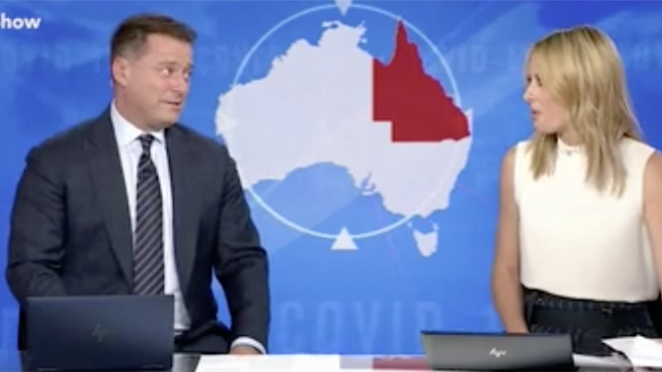 Image of Karl and Ally Langford on Today Karl admits Jasmine drunk dialled Queensland premiere