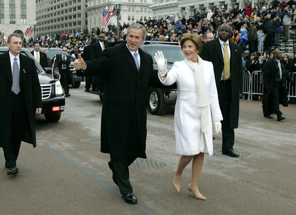 laura bush second inauguration