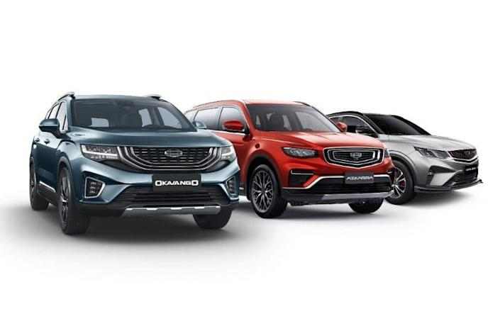 Geely vehicles