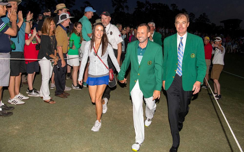 Sergio Garcia and Angela Akins - Credit: REUTERS