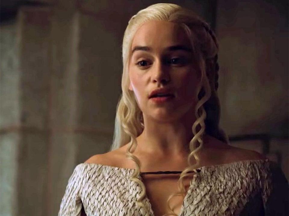 Daenyrys, Queen of Dragons, played by Emilia Clarke (HBO)