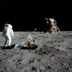 Aldrin with experiment