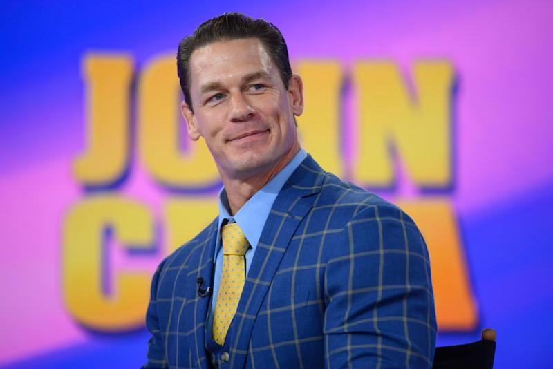 John Cena made a fans's day by complimenting his Rubik's cube portrait of him. (Photo: Nathan Congleton/NBC/NBCU Photo Bank)