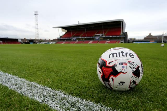 It is unclear when Blundell Park will next be able to host fans (Richard Sellers/PA)