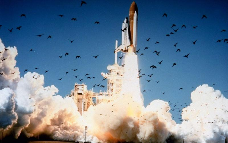 The space shuttle Challenger lifts off at Kennedy Space Center, Florida, on January 28, 1986 - AP/Nasa