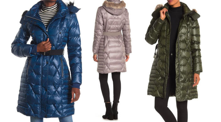 Andrew Marc Faux Fur Hood Belted Puffer Coat (Photo: Nordstrom Rack)