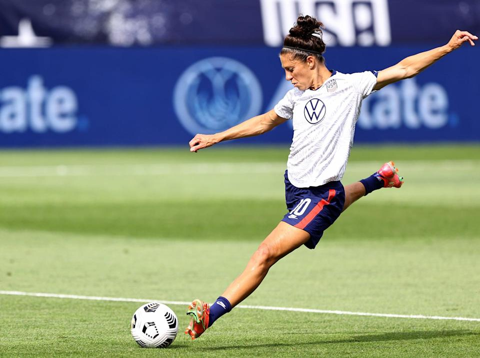 """<p>How often do you get the chance to learn hands-on from a professional athlete, nonetheless an Olympian? While many athletes may sponsor or make guest appearances at sports camps, Lloyd likes to lead her own. <a href=""""http://carlilloyd.com/pages/carli-lloyd-cl10-soccer-clinics"""" class=""""link rapid-noclick-resp"""" rel=""""nofollow noopener"""" target=""""_blank"""" data-ylk=""""slk:Lloyd's CL10 Soccer Clinics"""">Lloyd's CL10 Soccer Clinics</a> offer aspiring soccer players aged 8 to 18 a chance to learn her techniques and drills in person.</p>"""