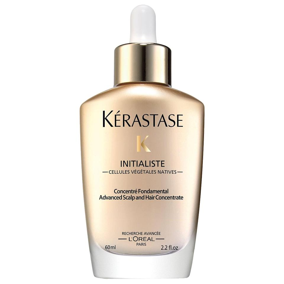 <p>The top-rated <span>Kérastase Initialiste Advanced Scalp and Hair Serum</span> ($40) features the SP94 peptide which penetrates roots to help reinforce hair fibers. There are also ceramides inside to strengthen against breakage as well.</p>