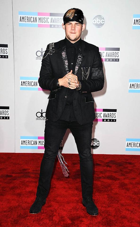 Singer James Durbin arrives at the 2011 American Music Awards held at the Nokia Theatre L.A. LIVE. (11/20/2011)