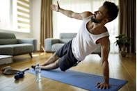 """<p>As the mercury continues to drop, it's tempting to eat and drink ourselves into hibernation on our rest days and the weekend. But it's time to get back to your best in 2021.</p><p>According to recent research in the journal Medicine & Science in Sports & Exercise, short and strenuous workouts - just like this <a href=""""https://www.menshealth.com/uk/fitness/a26235804/hiit-workout-tips/"""" rel=""""nofollow noopener"""" target=""""_blank"""" data-ylk=""""slk:HIIT"""" class=""""link rapid-noclick-resp"""">HIIT</a> session - are the best for torching fat, so clear your plans - especially if they involve a treadmill or a wheeze around the park.</p><p>Handily, all you need is a stopwatch (or your phone), this workout and a desire to blitz your body to breaking point. Resistance comes from your own weight, which is more than enough to burn a serious number of calories, work your body through every plane of motion and burn off any remaining signs of weekend indulgence. With this carefully constructed running order of exercises, no <a href=""""https://www.menshealth.com/uk/building-muscle/a750068/which-muscle-groups-should-i-work-out-on-the-same-day/"""" rel=""""nofollow noopener"""" target=""""_blank"""" data-ylk=""""slk:muscle group"""" class=""""link rapid-noclick-resp"""">muscle group</a> can hide. Simply pump out as many reps as you can in 60 seconds (for the planks, hold for as long as possible), before moving on to the next exercise. Take two minutes of rest at the end of the circuit, then repeat it. So, what are you waiting for?<br></p>"""