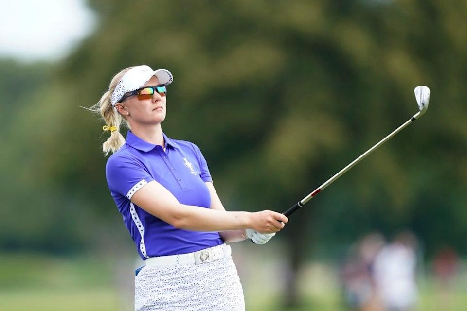 Madelene Sagstrom was involved in controversy on day one of the Solheim Cup (Carlos Osorio/AP) (AP)