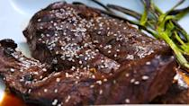 """<p>The grilled scallions are a game changer.</p><p>Get the recipe from <a href=""""https://www.delish.com/cooking/recipe-ideas/recipes/a47353/grilled-teriyaki-steak-recipe/"""" rel=""""nofollow noopener"""" target=""""_blank"""" data-ylk=""""slk:Delish"""" class=""""link rapid-noclick-resp"""">Delish</a>.</p>"""