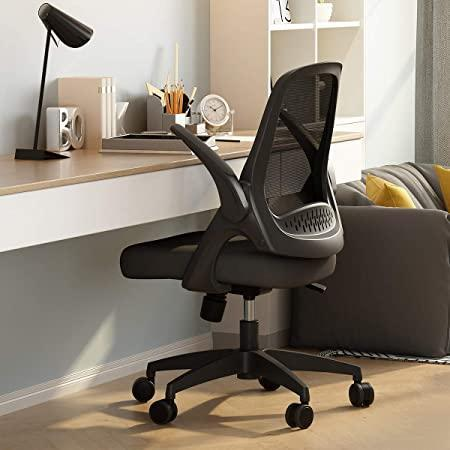 """<h2>24% Off Swivel Chair with Collapsible Arms<br></h2><br>""""After eight months, complete with a move back to my childhood bedroom, I decided it was time to invest in an actual office chair instead of just complaining about back and shoulder pain. Just because I am currently living in the room I grew up in, doesn't mean that I need to sit in the same desk chair I've had since I was in elementary school. I was VERY excited that it has flip up arms, so it doesn't have to take up as much room in my small space.""""<br><br><em>— Rebecca Smith, VP of Editorial Operations and Strategy</em><br><br><strong>Hbada</strong> Swivel Chair with Collapsible Arms, $, available at <a href=""""https://www.amazon.com/gp/product/B07QLWTLLN"""" rel=""""nofollow noopener"""" target=""""_blank"""" data-ylk=""""slk:Amazon"""" class=""""link rapid-noclick-resp"""">Amazon</a>"""