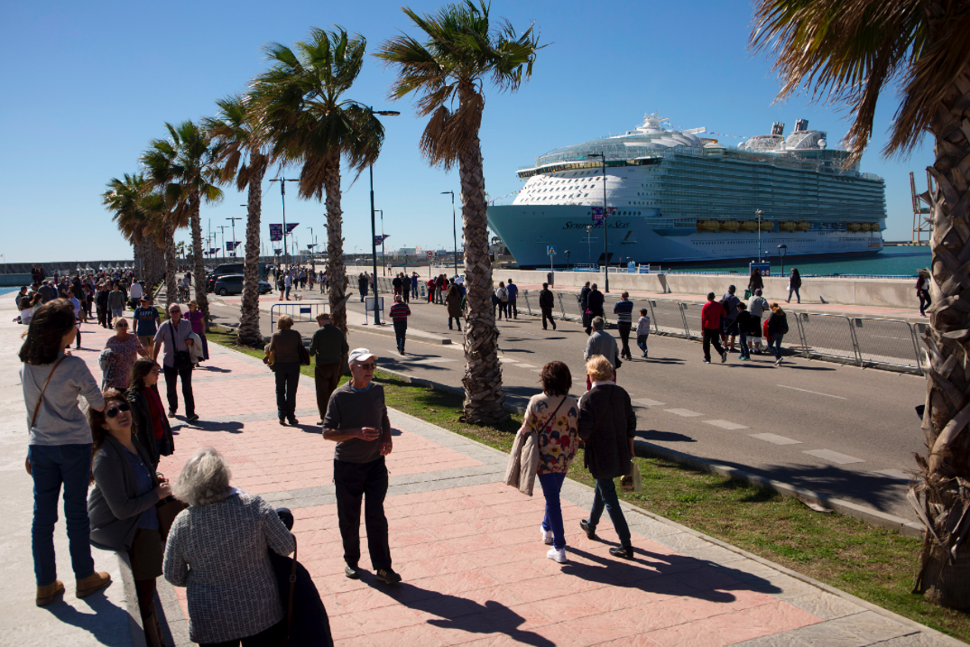 <p>The vessel is the largest and most expensive cruise ship in the world. (Getty) </p>