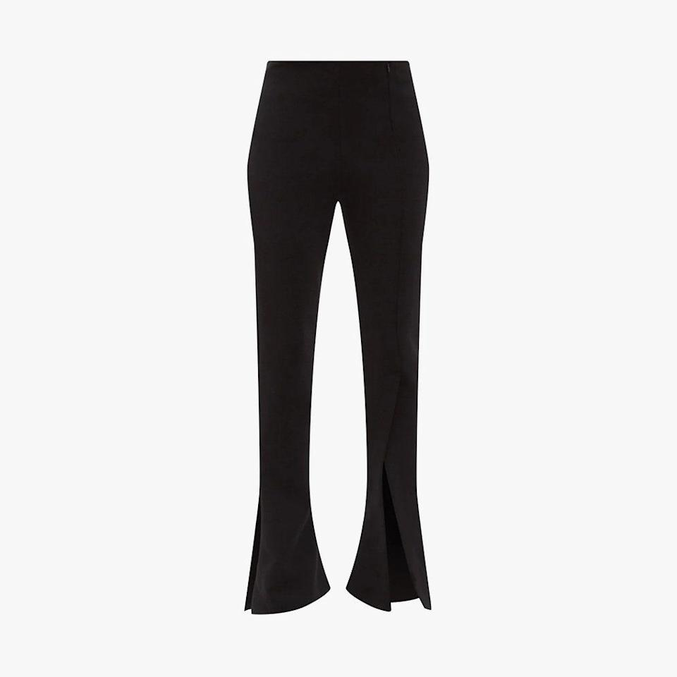 """$319, MATCHESFASHION.COM. <a href=""""https://www.matchesfashion.com/us/products/A-W-A-K-E-Mode-Slit-cuff-crepe-flared-leg-trousers-1381715"""" rel=""""nofollow noopener"""" target=""""_blank"""" data-ylk=""""slk:Get it now!"""" class=""""link rapid-noclick-resp"""">Get it now!</a>"""