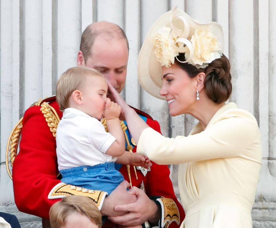 Prince Louis was seen sucking his thumb on the balcony of Buckingham Palace [Photo: Getty]