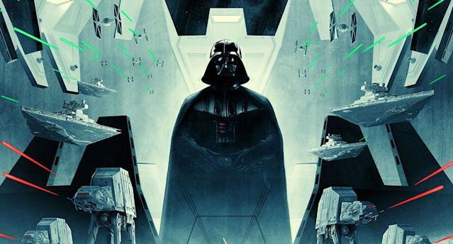 Detail from the Star Wars: Episode V - The Empire Strikes Back - 40th anniversary poster. (Lucasfilm)