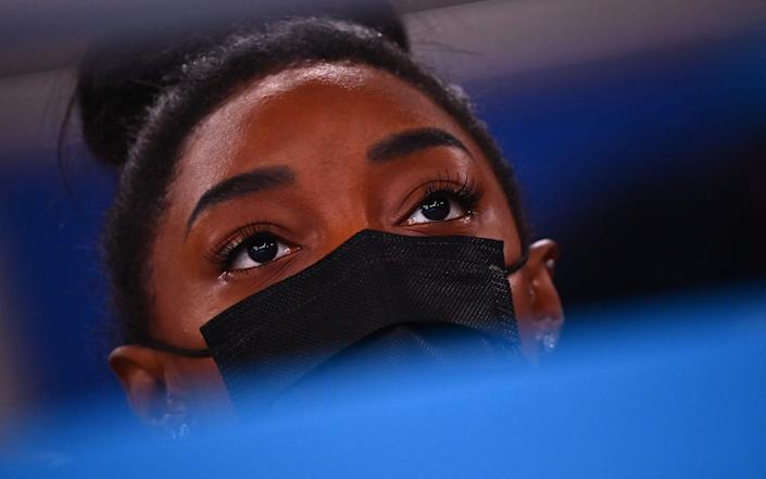 Simone Biles may still compete in the floor exercise on Monday and beam on Tuesday - GETTY IMAGES