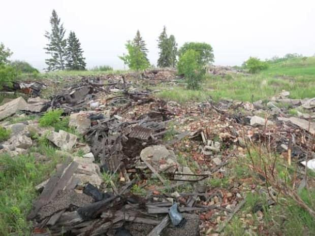 The rubble of the former Brandon Indian Residential School, as shown in this 2013 Manitoba Historical Society photo.