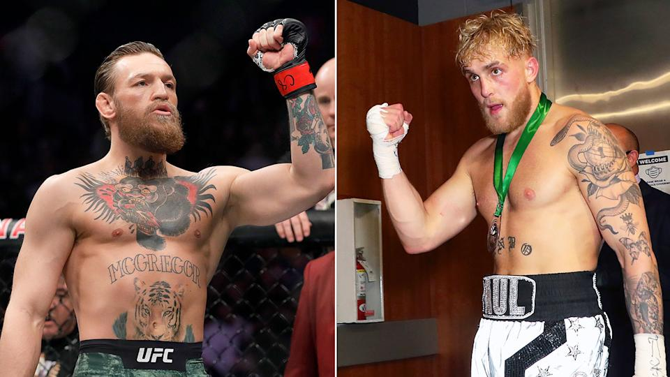 Pictured here, UFC star Conor McGregor and Youtuber-turned boxer Jake Paul.