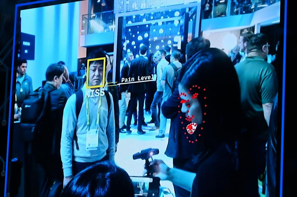 IMAGE: Facial recognition tech at CES 2019 (Robyn Beck / AFP - Getty Images file)